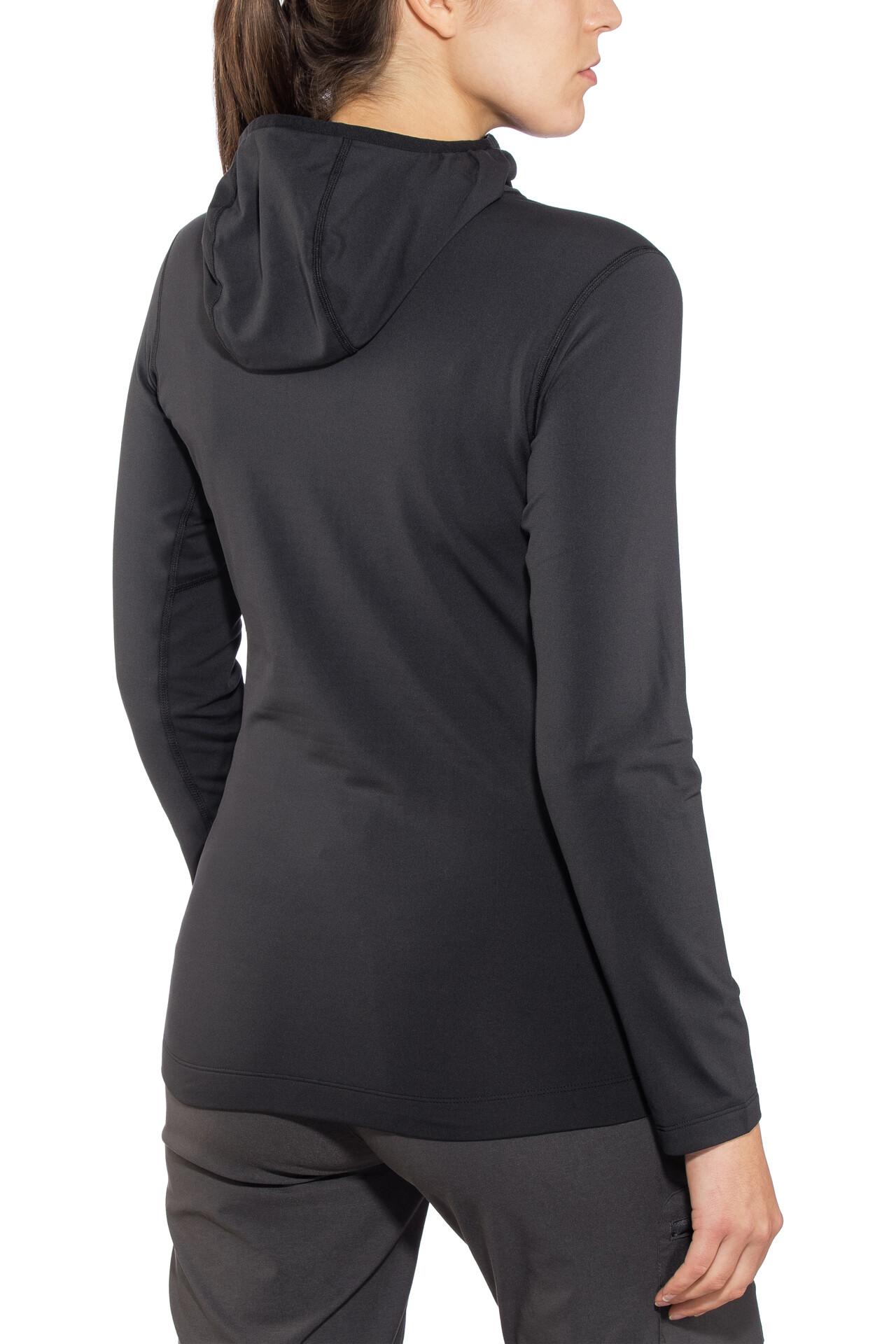 T Noir Lt Shirt Arc'teryx Femme Rho Longues Manches XZPuki